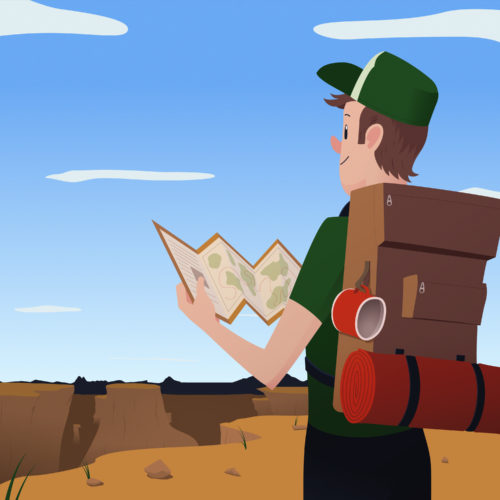 hiking_illustration